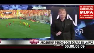 Por culpa del colorado mufa de Liberman la Argentina queda fuera de...