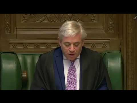 John Bercow announces royal assent to Brexit bill