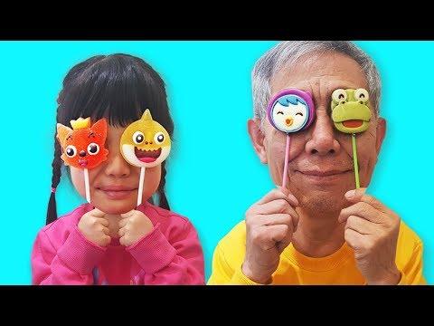 Kinderlieder Und Lernfarben with Baby Gombal Candy Kids Children #9 Finger Family Song | Romiyu 로미유