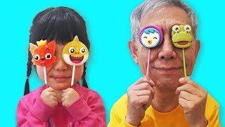 영어 배우기! 인기 동요 Finger family Nursery Rhymes تعليم الأطفال بأغنية الأطفال Lagu Anak anak Canciones 로미유