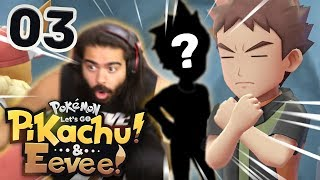 VS LEADER BROCK & WHO IS THAT?!?! | Pokemon Let's Go Pikachu & Eevee Playthrough w/ TheHeatedMo - 03