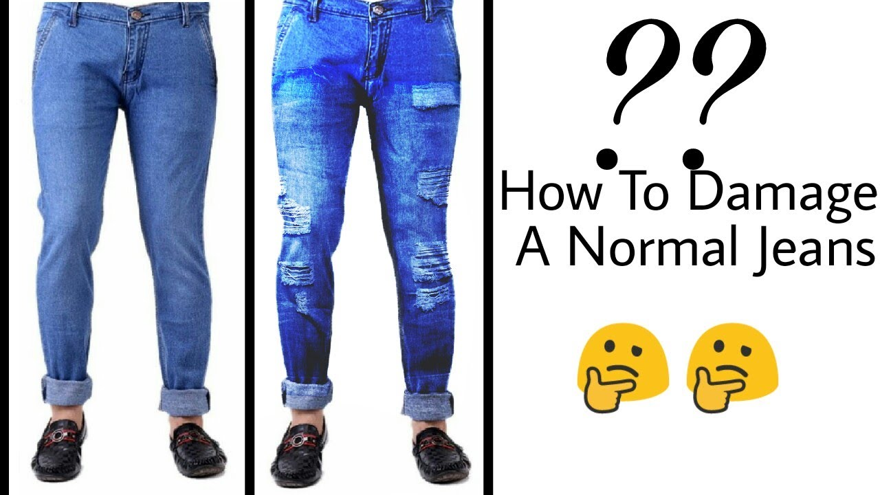 9f1cf496 How to damage A Normal Jeans / PicsArt Editing simple way,Simple Jeans to  convert damage Jeans