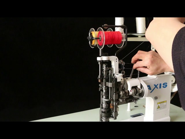 Axis 121 4 Fils Universal Feed LockStitch Zig Zag Couching Embroidery Sewing Machine