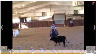 Michael Cooper Critiques A Cutter Working His Horse At Home