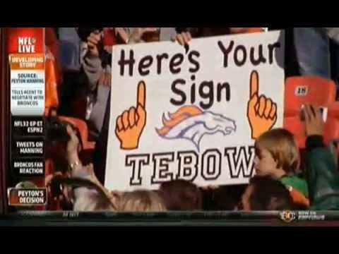 Peyton Manning to Denver Broncos! - Where does Tebow Go?