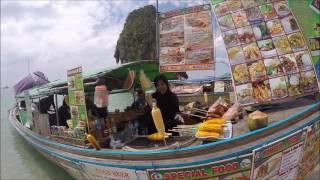 タイ南部・クラビにあるアオナンビーチより・ロングテール貸切りアイラ...