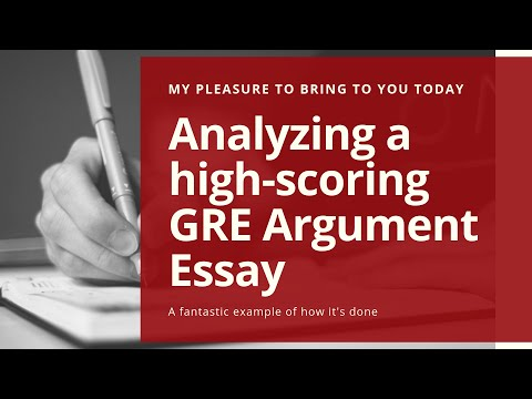 Fantastic Example Of A High-scoring (5.0 Or 6.0) GRE Argument Essay