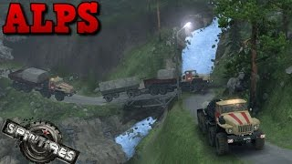SpinTires | Alps | Map Mod | Ural 6614
