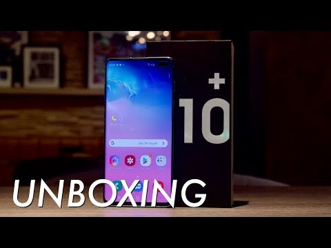 Samsung Galaxy S10+ unboxing