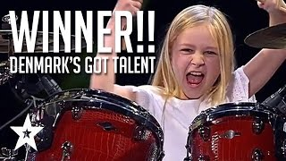 10 Year Old Drummer Johanne Astrid - Winner Of Denmark