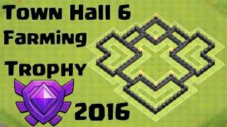 NEW EPIC TH6 TROPHY / FARMING BASE - TOWN HALL 6 FARMING / TROPHY BASE
