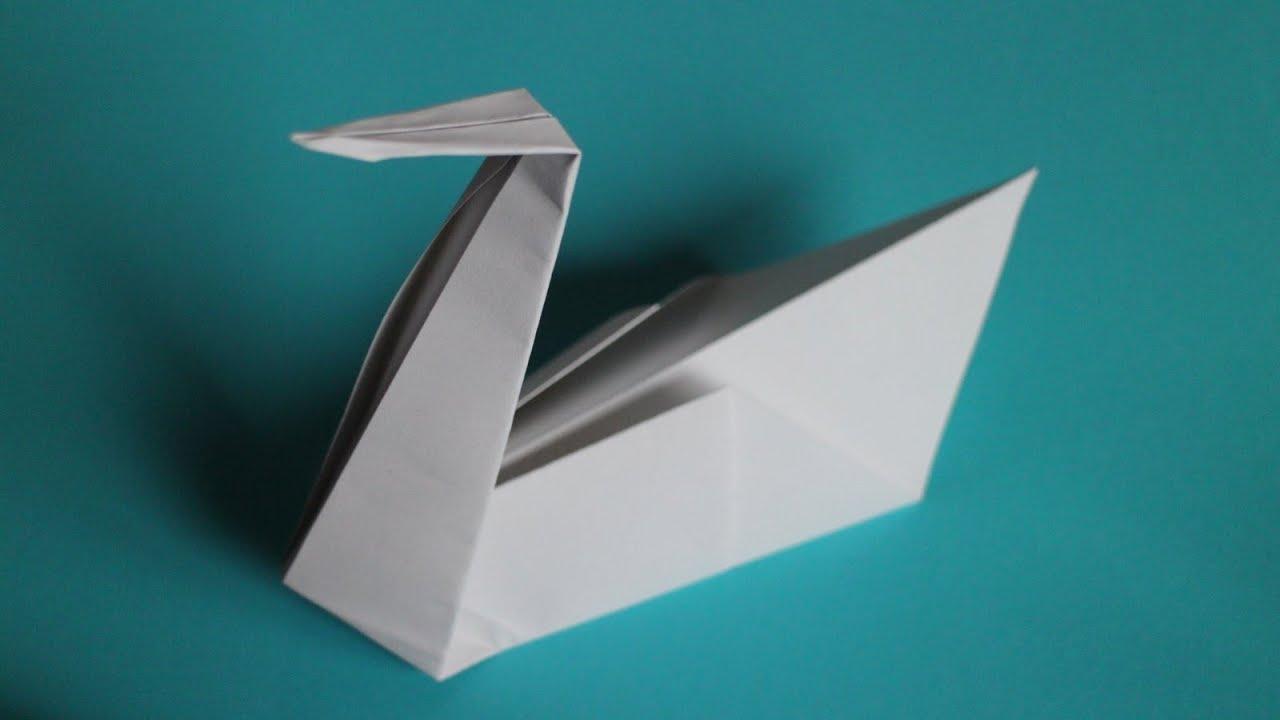 Basteln Mit Papier Schwan Origami Falten W