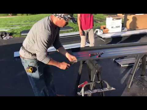 How We Prep Our Standing Seam Panel For Our Cleated Drip Edge