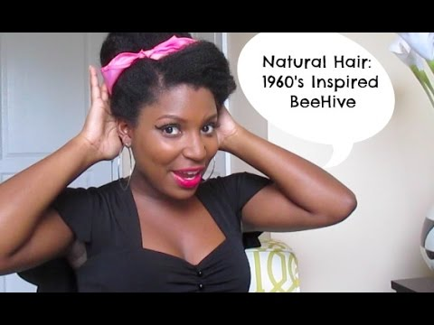 75| Natural Hair Beehive (Inspired By 1960's & Amy Winehouse)