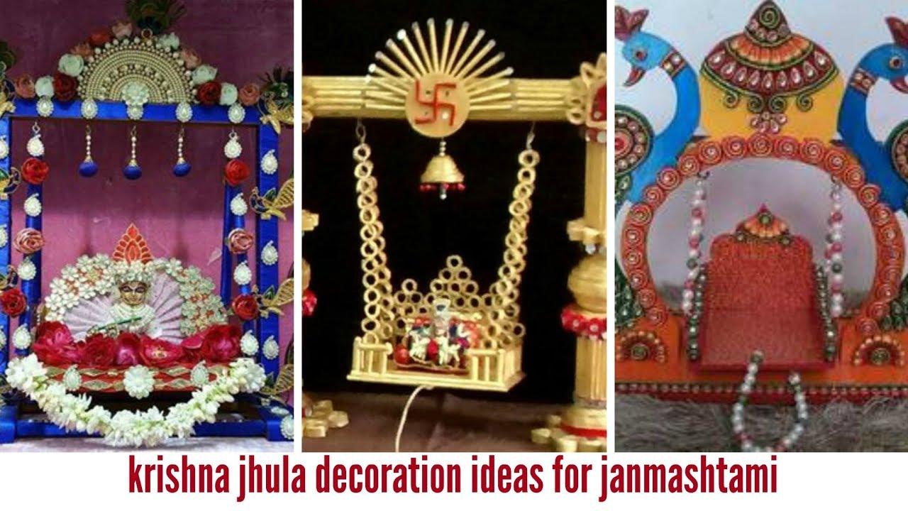 Krishna Janmashtami Jhula Decoration Ideas Youtube