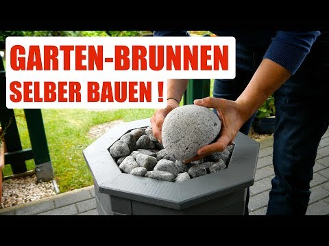 Garten Brunnen Für Die Terrasse/Balkon Selber Bauen.