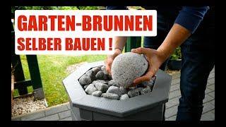 DIY Garten Brunnen selber bauen Anleitung deutsch/german