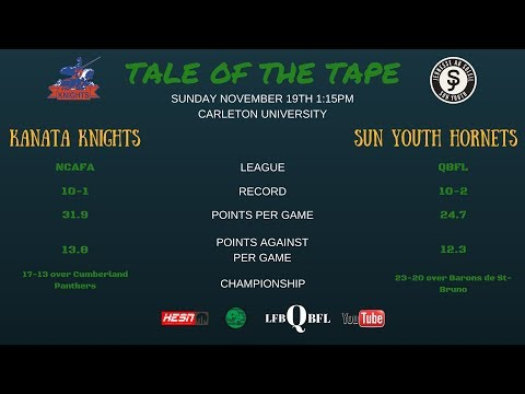 Bantam   Inter-Provincial Bowl Series - Sun Youth Hornets vs Kanata Knights