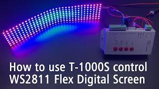 Як користуватися Т-1000 контролер управління Flex чіпами WS2811 цифровий адресний екран