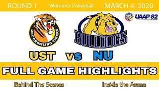UAAP S82 UST vs NU Full Game Women's Volleyball