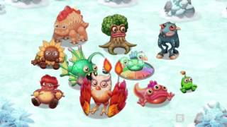 My Singing Monsters: Dawn of Fire - All 2-Element Monster Song [FULL]