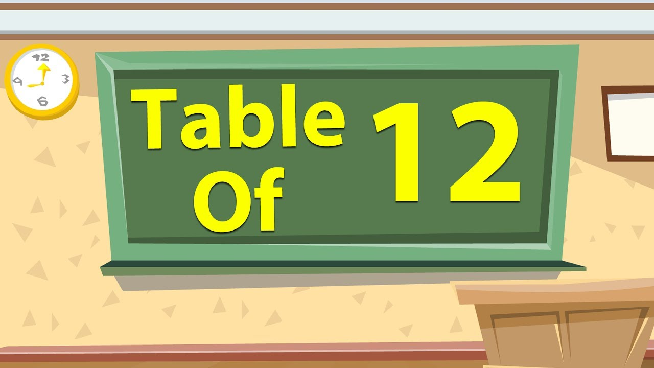 12 times table multiplication for beginners 12x table for 12 times table song youtube