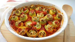 Кабачки в духовке САМЫЙ ВКУСНЫЙ И КРАСИВЫЙ РЕЦЕПТ Кабачки с сыром в томатном соусе