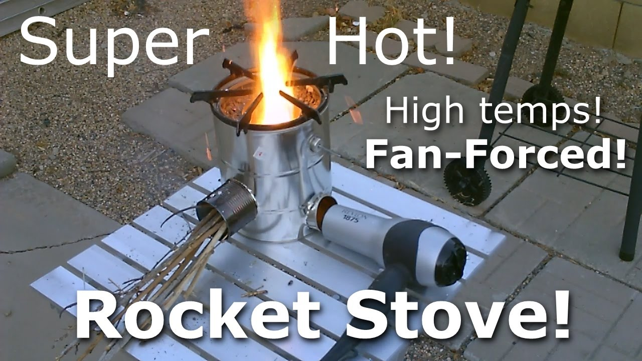 Homemade Rocket Stove The 5 Can Quot Fan Forced Quot Steel Can
