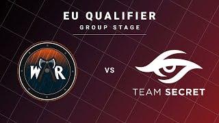 Wind and Rain vs Team Secret Game 1 - DreamLeague S13 EU Qualifiers: Group Stage
