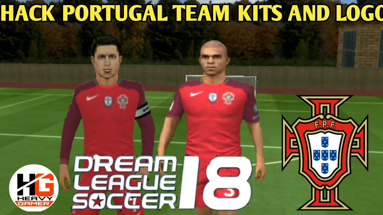 HOW TO CREATE PORTUGAL 2018 NATIONAL TEAM KITS AND LOGO IN DLS 18