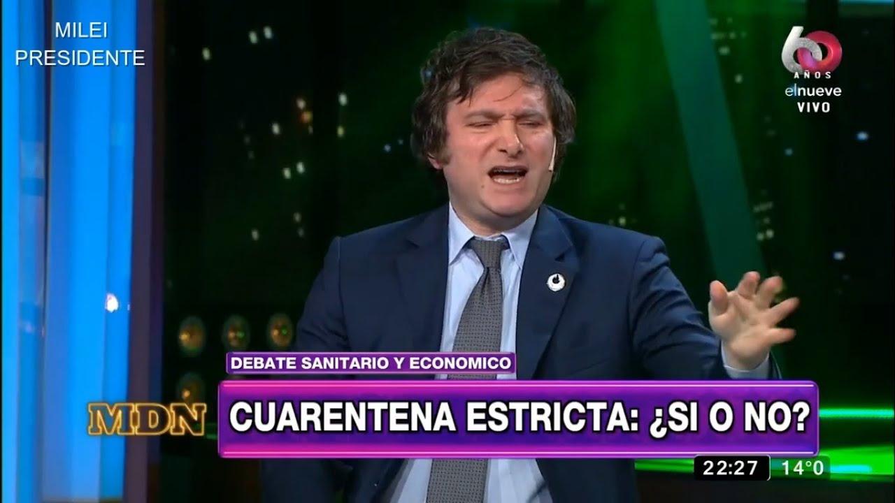 "Javier Milei se cruza con infectóloga kirchnerista: ""Argumentos berretas y demagogia barata""-22/6/20"