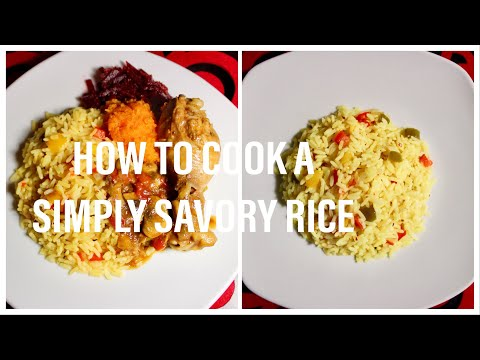 COOK WITH ME :SIMPLY SAVORY RICE /South African Youtuber