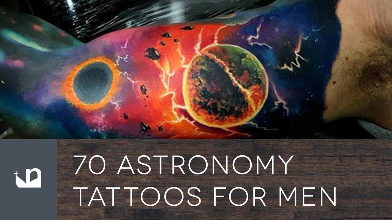Men Tattoo Astronomy: 70 Astronomy Tattoos For Men
