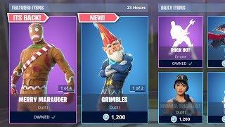 *NEW* GRIMBLES SKINS (Fortnite Item Shop 22nd December)