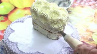 видеоурок : поклейка торта,  часть 2: сумочка