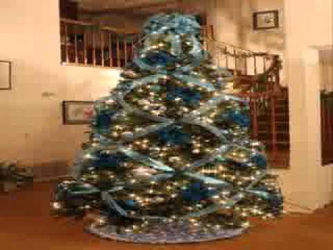 Decoraci n de rboles de navidad con la cinta youtube - Decoracion de arboles de navidad ...