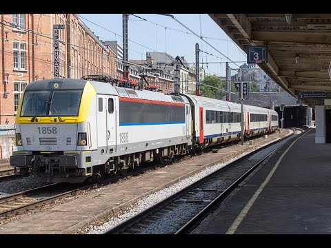 Treinen op Station Brussel-Kapellekerk (Bruxelles-Chapelle)