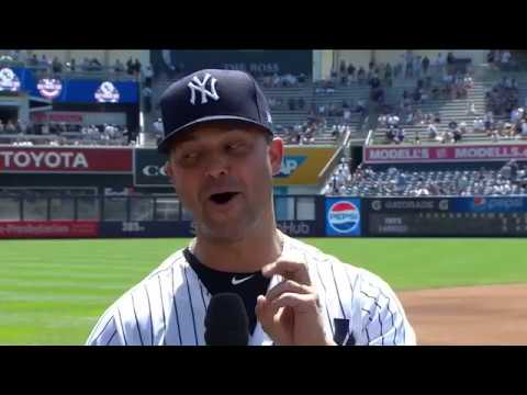 Super Nervous Nick Swisher On Yankees Old Timers Day