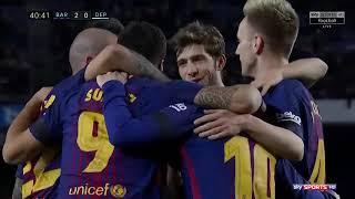 Barcelona 4-0 Deportivo La Coruna Highlights 18-12-2017