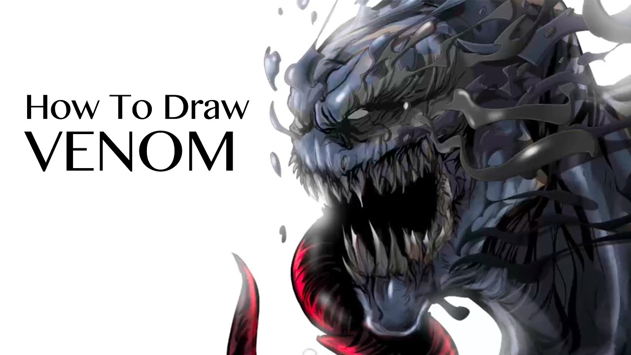 How to Draw Venom from SpiderMan