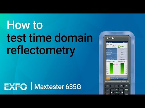 How to test time domain reflectometry (TDR) | Maxtester 635G
