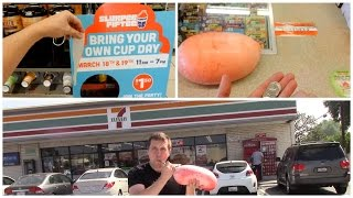 Filling a Condom with a Slurpee at 7-Eleven