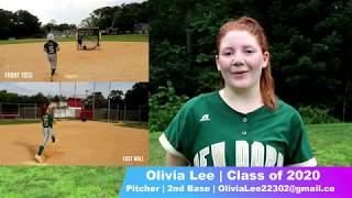 Olivia Lee NCAA Softball Skills Video Class of 2020 Pitcher and 2nd Base