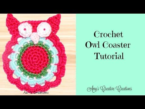 Crochet Owl Coaster Tutorial