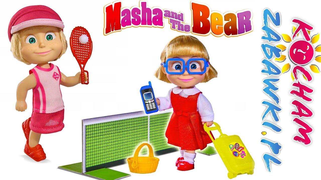 Masza i Niedźwiedź • Masza i Dasza • Nauka tenisa • bajki po polsku