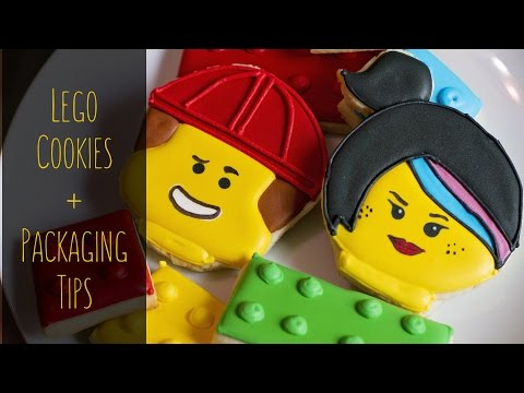 Lego Themed Cookies + Packaging Tips