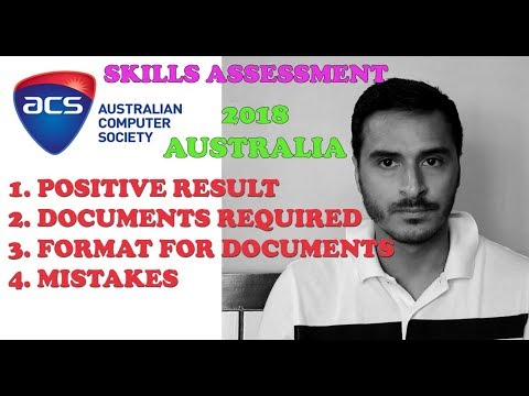 ACS SKILLS ASSESSMENT POSITIVE RESULT AND DOCUMENTATION || AUSTRALIA