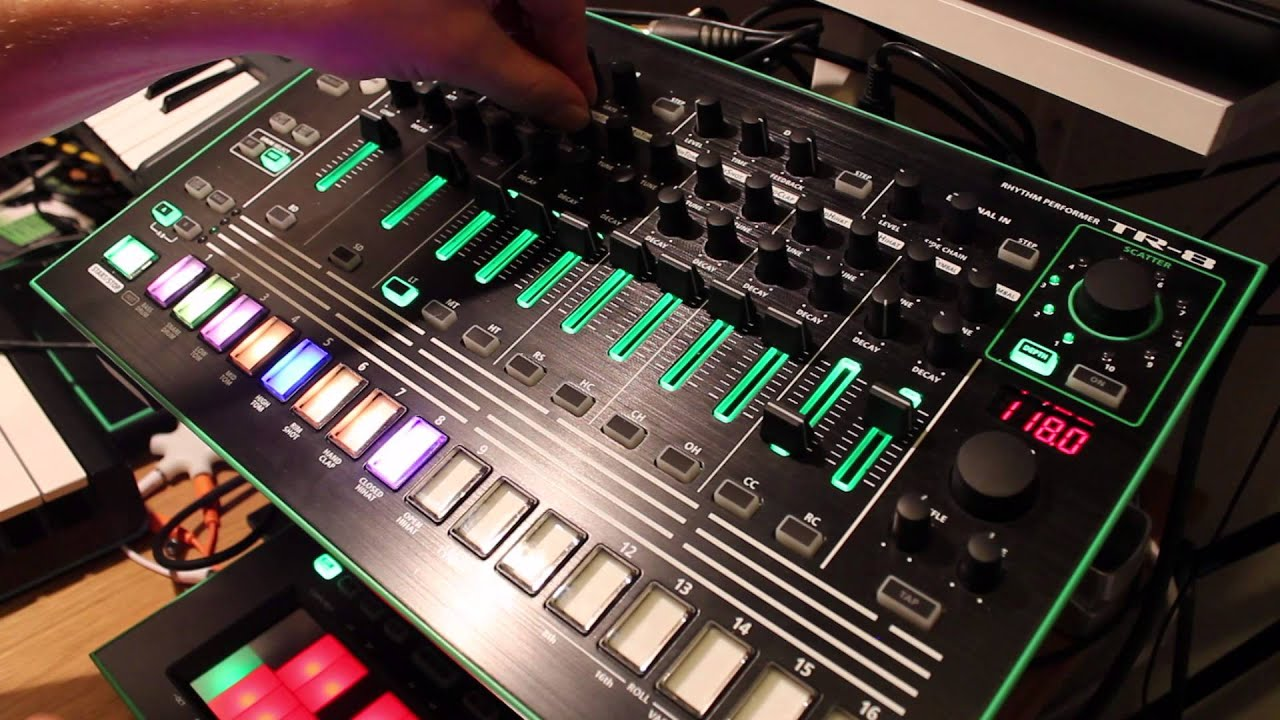 roland aira 7x7 tr8 drum machine expansion jam session youtube. Black Bedroom Furniture Sets. Home Design Ideas