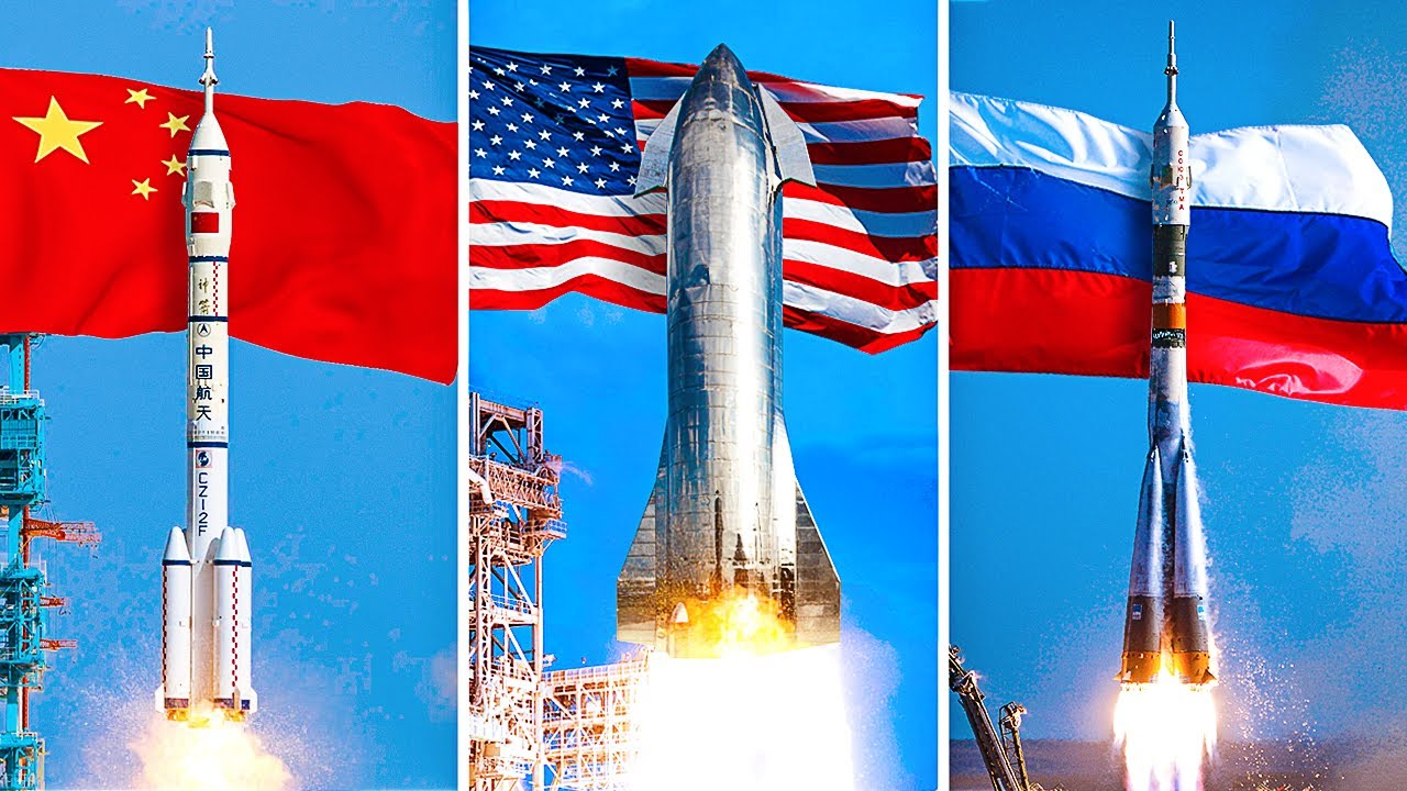The New Space Race: USA vs China vs Russia - YouTube