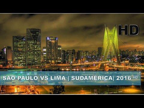 ✔ Lima - Perú vs Sao Paulo - Brasil HD | Sudamérica | 2016 ᴴᴰ